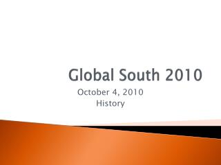 Global South  2010