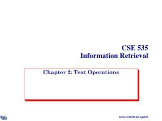 CSE 535 Information Retrieval