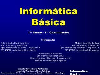 Inform�tica B�sica