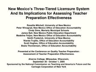 Rosalita Mitchell, University of New Mexico