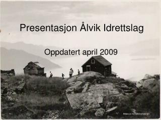 Presentasjon Ålvik Idrettslag