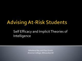 Advising At-Risk  Students