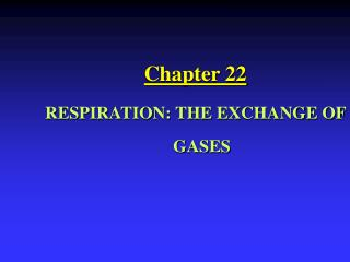 Chapter 22 RESPIRATION: THE EXCHANGE OF GASES