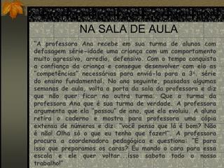 MICRO POLÍTICAS E CONFLITOS NA SALA DE AULA