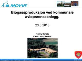 Biogassproduksjon ved kommunale avl�psrenseanlegg.