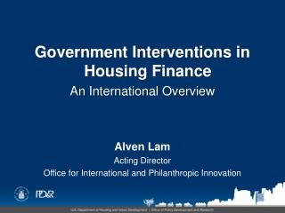 Alven Lam Acting Director Office for International and Philanthropic Innovation