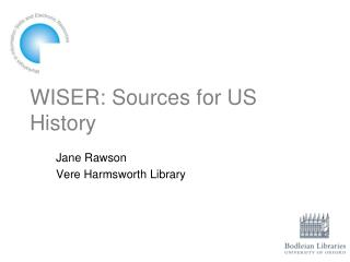 WISER: Sources for US History