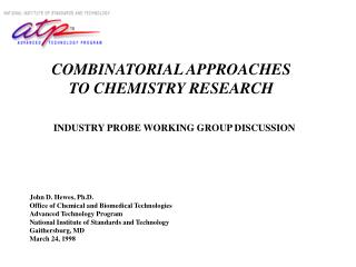 INDUSTRY PROBE WORKING GROUP DISCUSSION