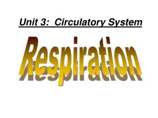Unit 3:  Circulatory System