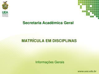 Informa��es Gerais