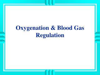 Oxygenation & Blood Gas Regulation