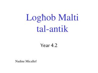 Loghob Malti tal-antik