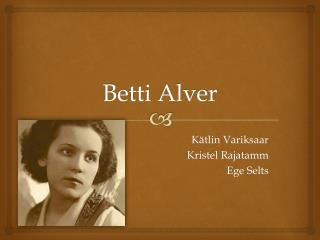 Betti Alver