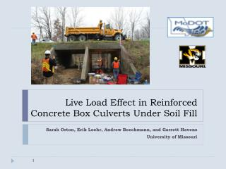 Live Load Effect in Reinforced Concrete Box Culverts Under Soil Fill