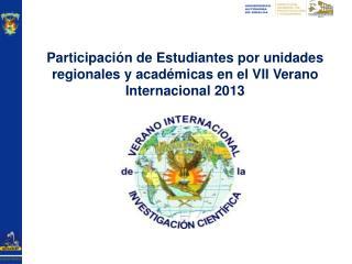 Estudiantes por Unidad Regional