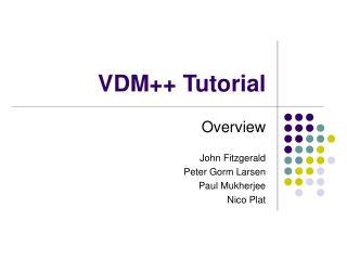 VDM++ Tutorial