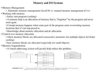 Memory and I/O Systems