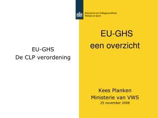 EU-GHS De CLP verordening