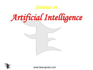 Seminar on  Artificial Intelligence