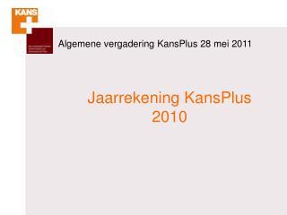 Algemene vergadering KansPlus  28  mei 2011