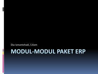 Modul-modul Paket ERP