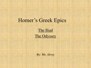 Homer's Greek Epics