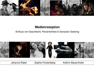 Medienrezeption Einfluss von Geschlecht, Persönlichkeit & Sensation Seeking