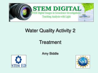 Water Quality Activity 2 Treatment  Amy Biddle