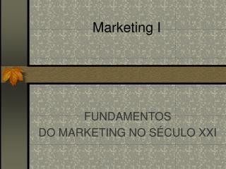 Marketing I