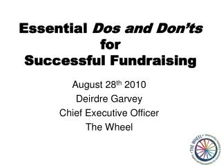Essential  Dos and Don'ts  for Successful Fundraising