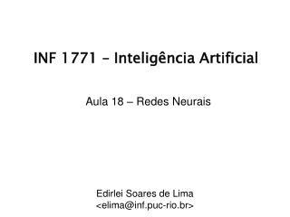 INF 1771 �  Intelig�ncia  Artificial
