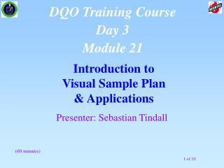 Introduction to  Visual Sample Plan & Applications