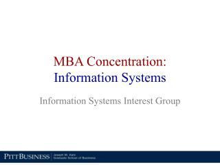 MBA Concentration: Information Systems