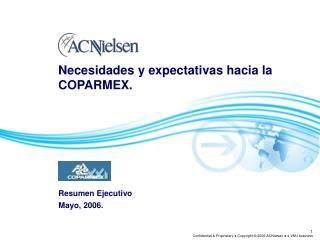 Necesidades y expectativas hacia la COPARMEX.