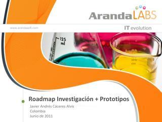 Roadmap  Investigación + Prototipos