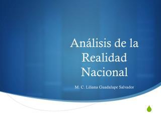 Análisis de la Realidad Nacional