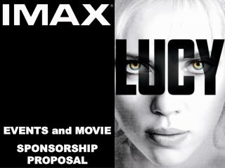 EVENTS and MOVIE  SPONSORSHIP PROPOSAL
