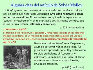 Algunas citas del artículo de Sylvia Molloy