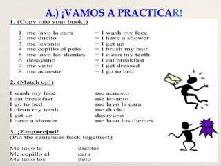 A.) ¡VAMOS A PRACTICA R!
