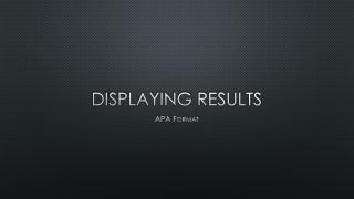 American Psychological Association APA Tips
