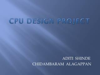 CPU DESIGN PROJECT
