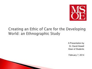 Creating an Ethic of Care for the Developing World: an Ethnographic Study