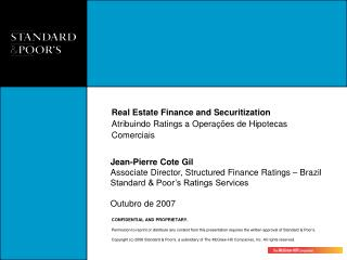 Real Estate Finance and Securitization  Atribuindo Ratings a Operações de Hipotecas Comerciais