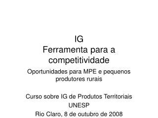 IG Ferramenta para a competitividade