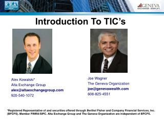 Introduction To TIC's