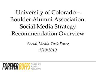 Social Media Task Force 5/19/2010