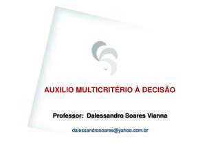 AUXILIO MULTICRITÉRIO À DECISÃO
