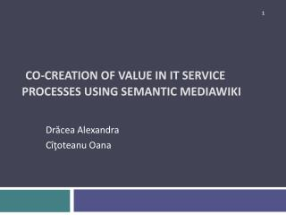 Co-Creation of Value in IT Service Processes using Semantic  MediaWiki