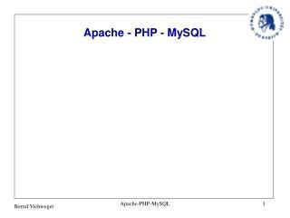 Apache - PHP - MySQL