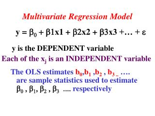 Multivariate Regression Model